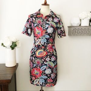 Tee 2 Sea Floral paisley colorful golf dress XS